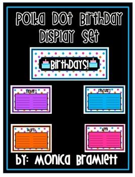 Polka Dot Birthday Display Set