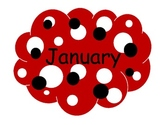 Polka Dot Birthday Month Display