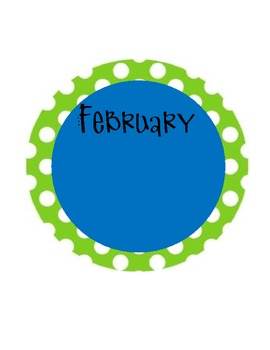 Polka Dot Birthday Months