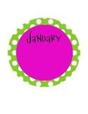 Polka Dot Birthday Months