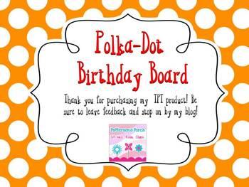 Polka Dot Birthday Poster