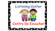 Polka Dot (Black) Bilingual Learning Centers Signs