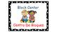 Polka Dot (Black) Bilingual Learning Centers Signs