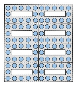 Polka Dot Blue and Dove Gray Small Labels