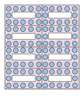 Polka Dot Blue and Lilac Small Labels