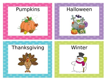 Polka Dot Book Bin Labels with Individual Book Labels