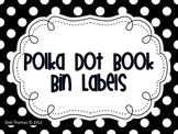 Polka Dot Book Bin Labels (Editable File Included)