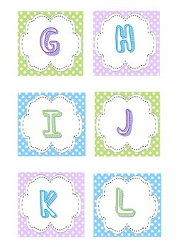 Polka-Dot Book Box Alphabet Labels with book labels