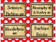 Polka Dot Book Genre Signs