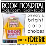 Polka Dot Book Hospital Label