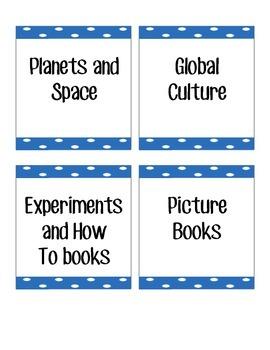Polka Dot Book Labels
