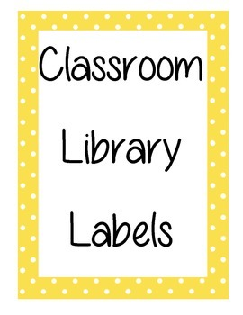 Polka Dot Book Labels