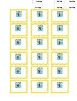 Polka Dot Book and Manipulative Labels