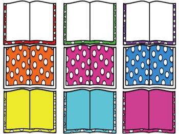 Polka Dot Books Clipart!