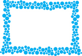 Polka Dot Border - Blue