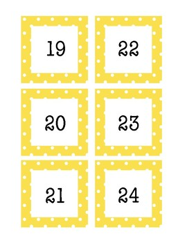Polka Dot Border Calendar Number Days