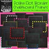 Polka Dot Border Chalkboard Frames: For Personal & Commercial Use