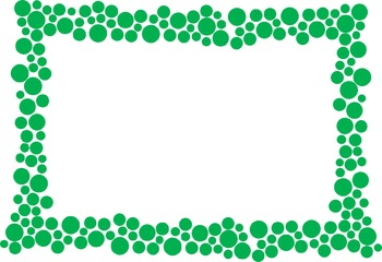 Polka Dot Border - Green