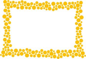 Polka Dot Border - Orange