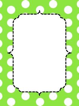 Polka Dot Border Posters