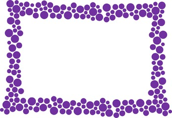 Polka Dot Border - Purple