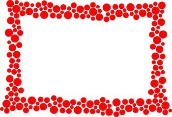 Polka Dot Border - Red