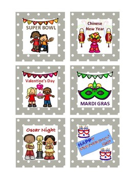 polka dot border special occasion calendar days