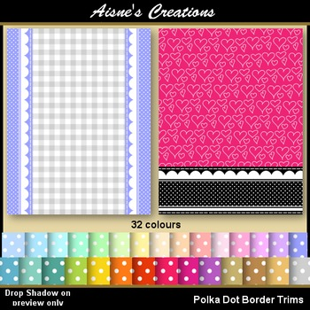 Polka Dot Border Trims