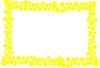 Polka Dot Border - Yellow