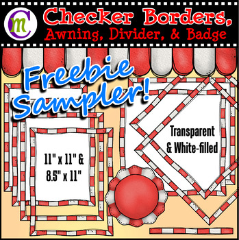 Checker Borders and More FREEBIE SAMPLER
