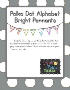 Polka Dot Bright Alphabet Pennants