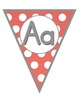 Polka Dot Bright Alphabet Pennants