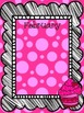 Polka Dot Bright Birthday Posters with Cupcakes