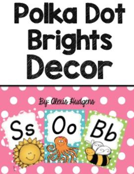 Polka Dot Brights Classroom Decor