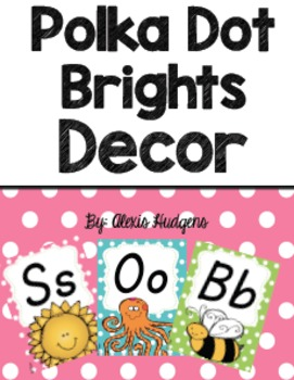 Polka Dot Brights Classroom Decor