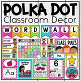 Classroom Decor Bundle in Polka Dot Brights ~ Classroom Jobs, Labels and More!