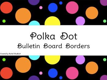 Polka Dot Bulletin Board Borders