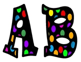 Polka Dot Bulletin Board Letters