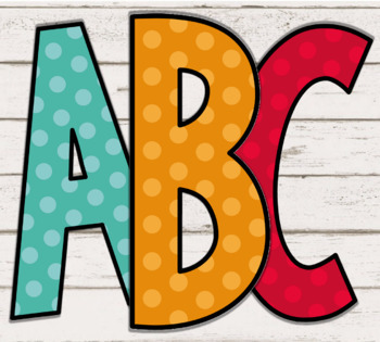 Polka Dot Bulletin Board Letters: 290+ Pages