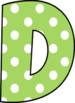 Polka Dot Bulletin Board Letters - 6 different colors