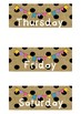 Polka Dot Bunting Days Of The Week