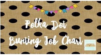 Polka Dot Bunting Job Chart (Editable)