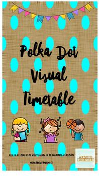 Polka Dot Bunting Visual Timetable