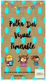 Polka Dot Bunting Visual Timetable (Editable Powerpoint included)