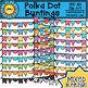 Polka Dot Buntings Clip Art