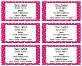 Polka Dot Business Cards in Color