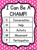 Polka Dot CHAMPs & Voice Level Posters