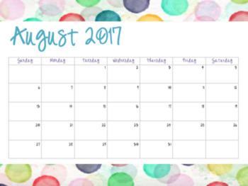 A Lot of Dots Calendar (2017-2018)