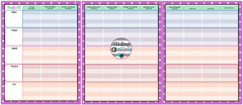 Polka Dot Calendar Book {editable}
