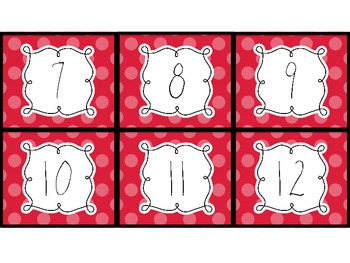Polka Dot Calendar Cards: Rainbow Colors